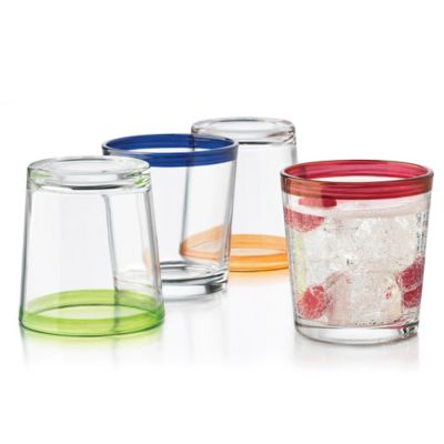 Libbey® Glass Mucho Colors Double Old Fashioned Glasses (Set of 4)