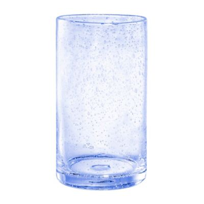 Artland Iris Bubble Glass Highball Glass in Blue