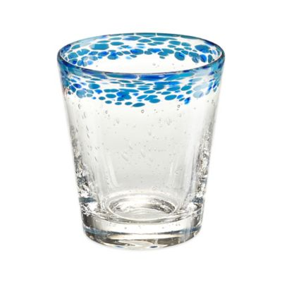 Artland Mingle Confetti Double Old Fashion Glass in Turquoise