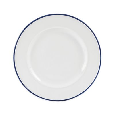 Blue White Salad Plate