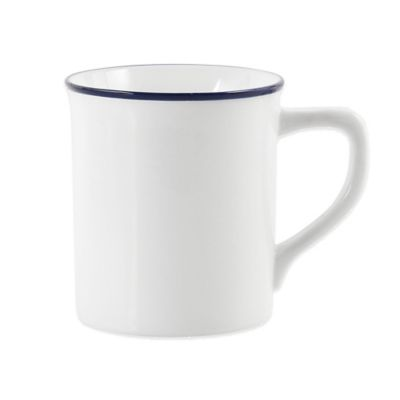 Everyday White® Blue Rim Mug