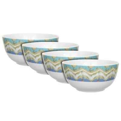 Dena™ Home Jaida Soup Bowls in Blue (Set of 4)