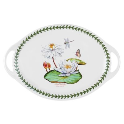 Large White Platter with Handles