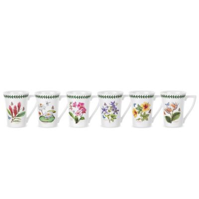 Portmeirion® Exotic Botanic Garden Assorted Mandarin Mugs (Set of 6)