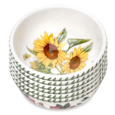 Portmeirion® Botanic Garden Sunflower Fruit/Salad Bowls (Set of 6)