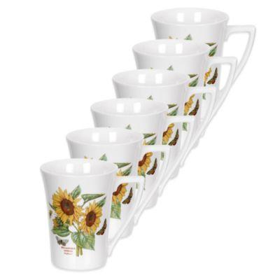 Portmeirion® Botanic Garden Sunflower Mandarin Mugs (Set of 6)