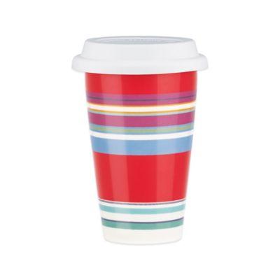 DKNY Lenox® Urban Essentials Thermal Travel Mug in Cherry