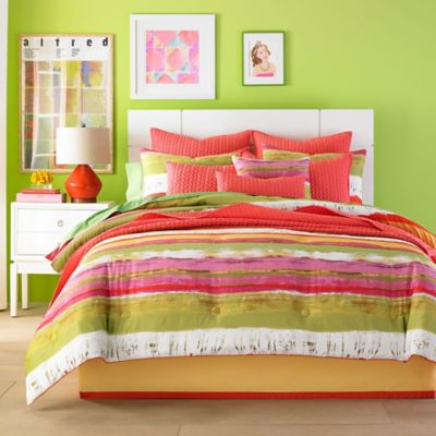 J by J. Queen New York Cordoba Queen Comforter Set in Citrus