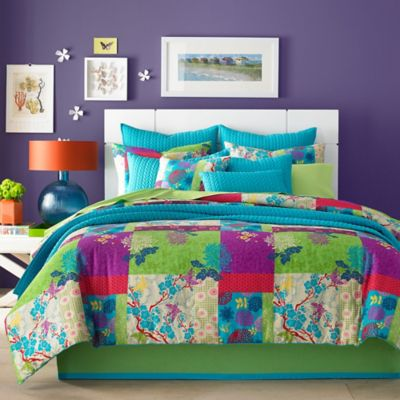 J by J. Queen New York Yoko California King Comforter Set in Apple