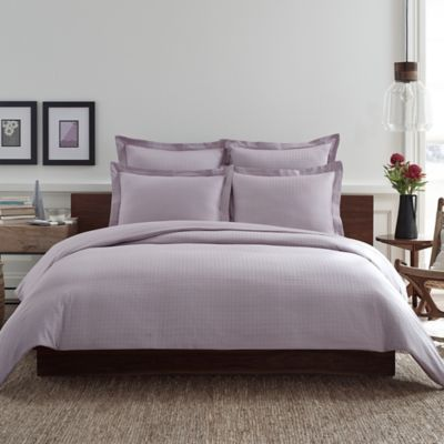 Real Simple® Clip N Zip Twin Reversible Duvet Cover in Orchid