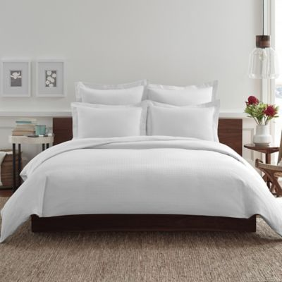 Real Simple® Clip N Zip Twin Reversible Duvet Cover in White