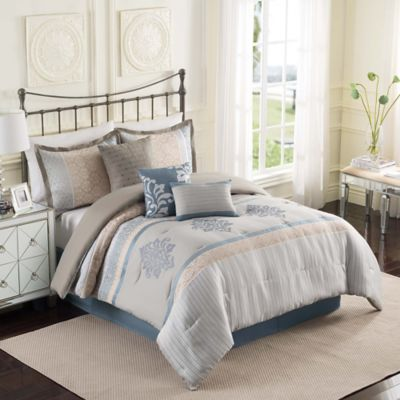 Ellery Homestyles Studio Hamilton Fashion Reversible 7-Piece Queen Comforter Set