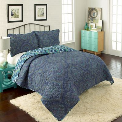 Vue Kapalua Reversible Twin Quilt Set