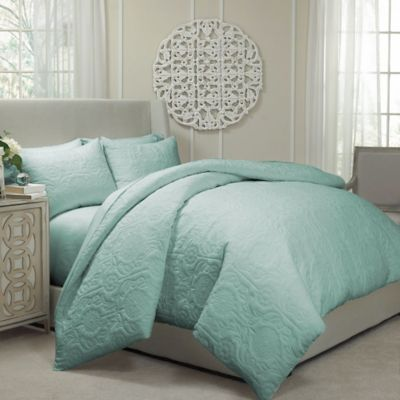 Vue® Barcelona Convertible King Coverlet-to-Duvet Cover Set in Spa Blue