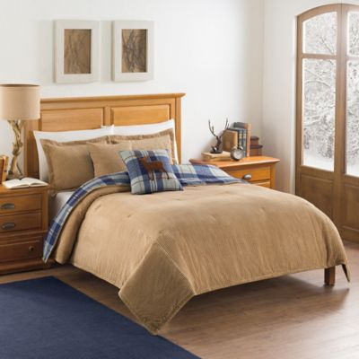 Blue Plaid Queen Comforter