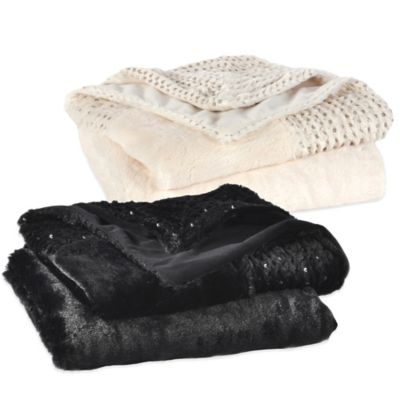 Berkshire Luxe Boutique Luxury Sequin Throw in Black