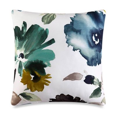 J by J. Queen New York Midori Square Throw Pillow in Teal