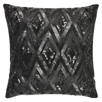 Vue Beaded Square Throw Pillow Throw Pillows