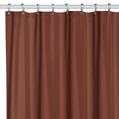 Hotel Mocha Fabric Shower Curtain Liner