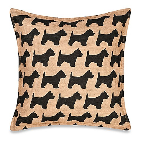 Buy Eccoaccents Scottie Dog Print Square Throw Pillow from Bed Bath & Beyond