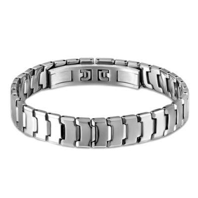 Tungsten 8.25-Inch Men's Repeating Bar Bracelet