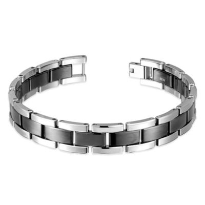 Tungsten Two-Tone Link Men's Bracelet