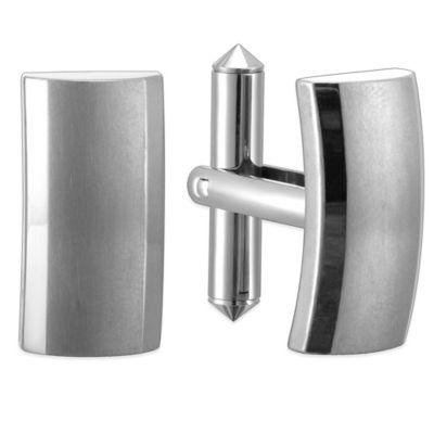 Titanium Smooth Rectangular Cufflinks
