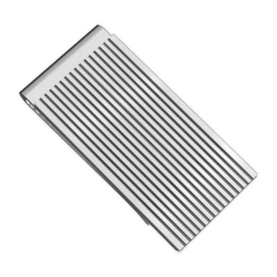 Titanium Black Ion-Plated Grooved Row Money Clip