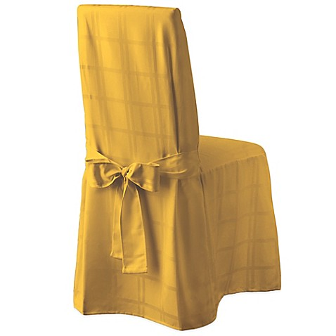 Origins Microfiber Dining Room Chair Cover In Gold Bed Bath Beyond