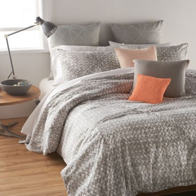 DKNY Gridlock European Pillow Sham in Grey