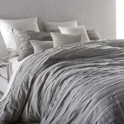 DKNY Loft Stripe Twin Duvet Cover in Linen