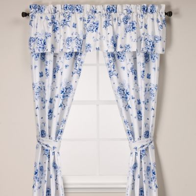 Floral Blue Window Panel