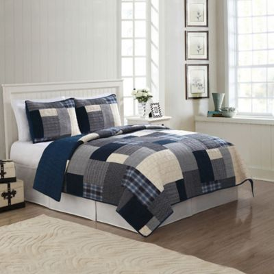 Indigo Blues King Quilt Set