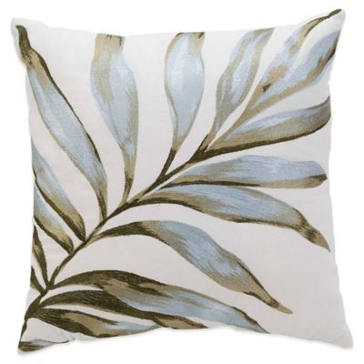 Coastal Life Luxe Isla Verde Palm Square Throw Pillow