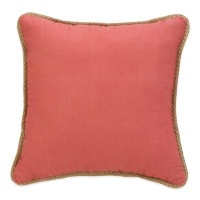 Coastal Life Luxe Isla Verde Solid Square Throw Pillow