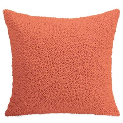 DKNY Gridlock Beaded Square Throw Pillow in Orange