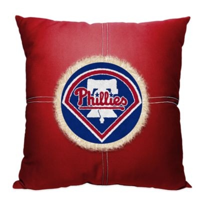 MLB Philadelphia Phillies 18-Inch Letterman Throw Pillow