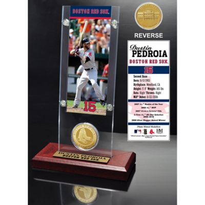 MLB Boston Red Sox Dustin Pedroia Ticket and Minted Coin Desk Acrylic