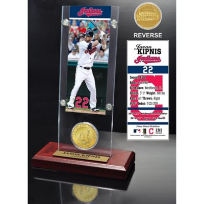 MLB Cleveland Indians Jason Kipnis Ticket and Minted Coin Desk Acrylic