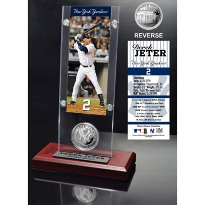 MLB New York Yankees Derek Jeter Ticket and Minted Coin Desk Acrylic