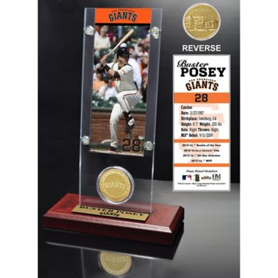 MLB San Francisco Giants Buster Posey Ticket and Minted Coin Desk Acrylic