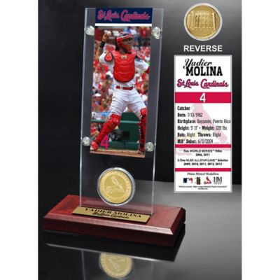 MLB St. Louis Cardinals Yadier Molina Ticket and Minted Coin Desk Acrylic