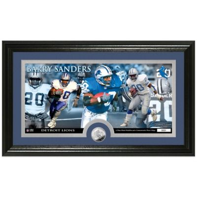NFL Detroit Lions Barry Sanders Coin Panoramic Photo Mint