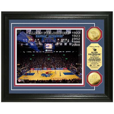 University of Kansas Collegiate Basketball Court Gold Coin Photo Mint