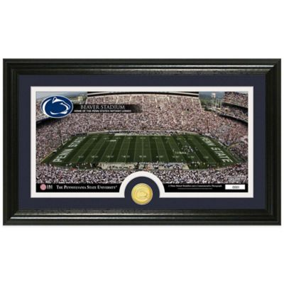 Penn State University Stadium Bronze Coin Panoramic Photo Mint