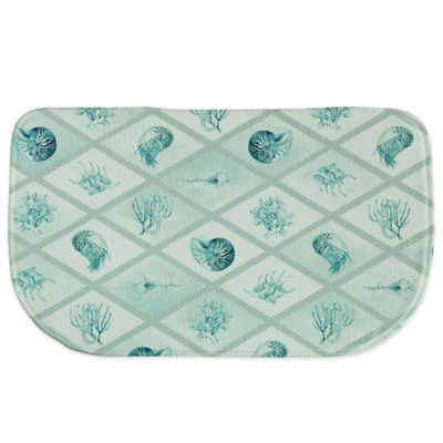 Bacova 18-Inch x 29.5-Inch Diamond Ocean Memory Foam Kitchen Rug