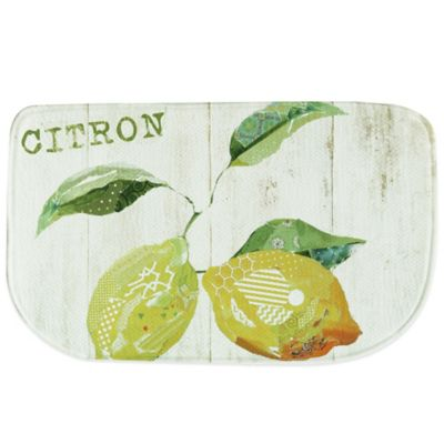 Bacova 18-Inch x 29.5-Inch Citron Memory Foam Kitchen Rug
