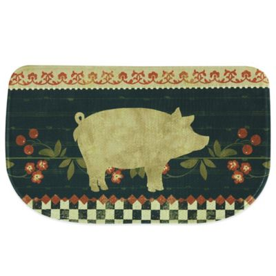 Bacova 18-Inch x 29.5-Inch Retro Pig Memory Foam Kitchen Rug