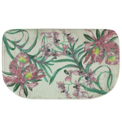 Bacova 18-Inch x 29.5-Inch Cattleya Memory Foam Kitchen Rug