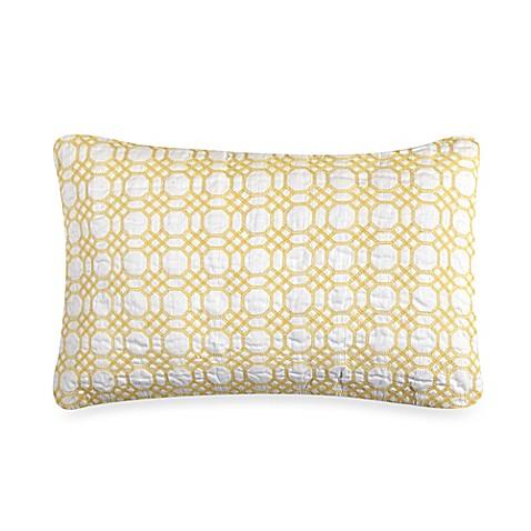 Yellow Embroidered Throw Pillows : Nautica Leighton Embroidered Oblong Throw Pillow in Yellow - Bed Bath & Beyond